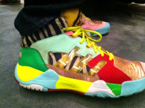 Luckett rocks some Jeremy Scott Adidas